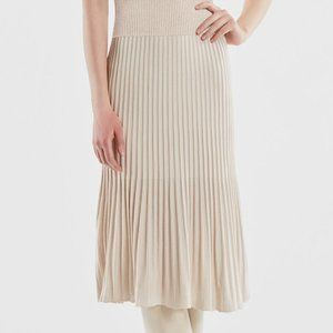Sandstone Ribbed A-Line Skirt